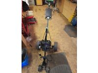 Golf trolley with charger and battery