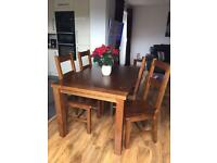 Arizona Dining Table & 4 chairs - Solid Pine