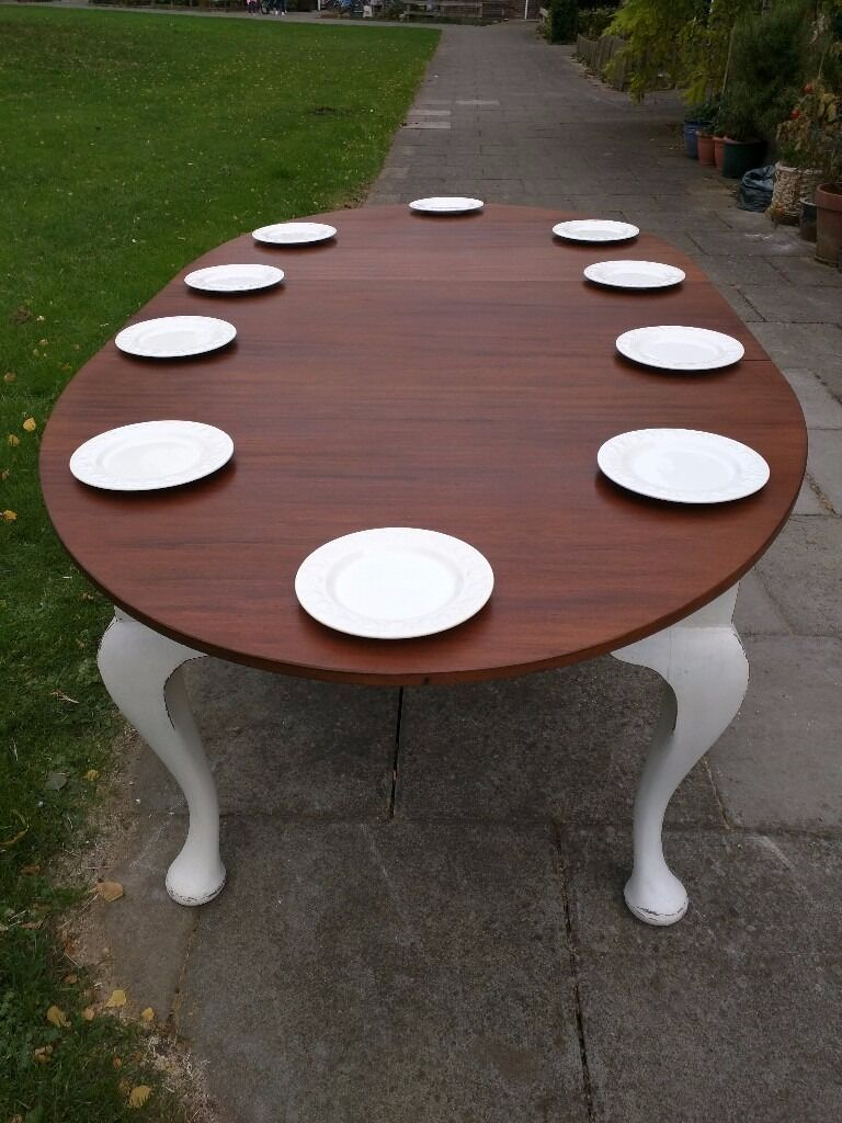 Victorian antique dining table.Queen Anne/ extending seats up to 10/Rustic/Shabby chic/