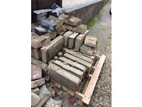 Free large bricks for a wall and concrete tops