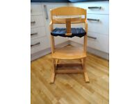 Babydan 'Danchair' high chair in natural