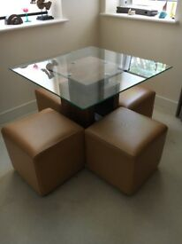 Great dining table and chair set for 4 people