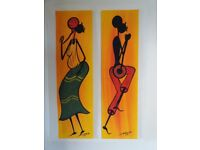 Hand painted African figures.