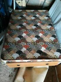 Double divan bed sold ,mattress available