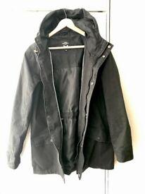 Men's Medium Parker Jacket - BROKEN ZIP - Brave Soul brand