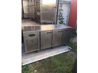 Bench worktop fridge counter worktop fridge taleaway shop cafe restaurant bakery bench fridge