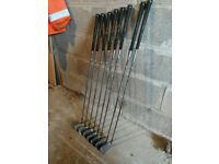 Callaway X18 irons plus woods, putter and bag.