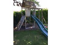 Wooden garden play house / tower / climbing frame