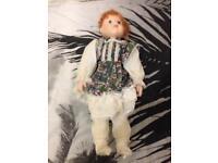 large vintage porcelain doll
