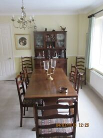 Classic Oak Dining Suite and Dresser
