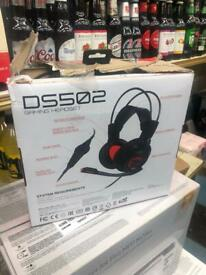 MSI Gaming Work Office Headphones Headset Microphone Surround DS502 **NEW**