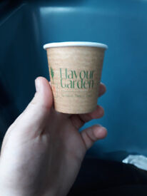 PRINTED COFFEE CUPS 100% COMPOSTABLE