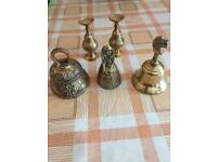 Selection of small brass bells