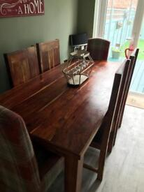 Next Dakota mango java solid wood table and chairs x4