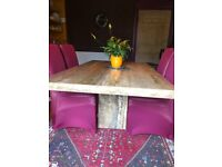 Italian Marble Table and 6 Chairs