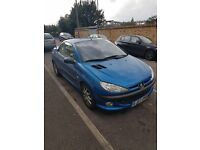 Reliable Peugeot 206 convertible in good condition