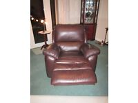 Leather armchairs - Pair of Leather La-Z-Boy Recliners