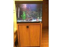 90 litre fish tank with unit
