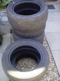 Free 7 used Tyres - for planters, horse jumps, etc