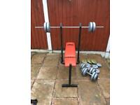 Pro Power Weights Bench With 52kg Weights Set. Can deliver