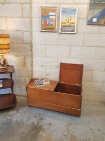 Antique 1920's Vintage Walnut Bench Storage
