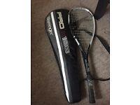 Squash racket,carry case and squash balls