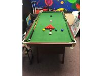 B.C.E 6ft snooker table. Excellent condition