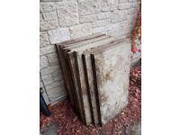 Large paving slabs 595x896x50mm