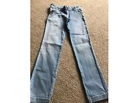 Girls jeans age 9-10