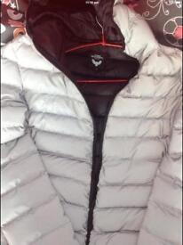 Fully reflective puffer coat
