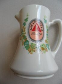 Wade Large Ceramic Bass Pale Ale Water Jug. Ex. cond./Unused. No crackling, cracks or chips.