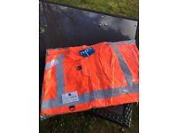 Hi Viz Orange Offshore Jacket - Large brand new