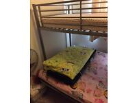 Bunk bed metal folding double lower part to sofa