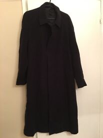 Mens full length wool and cashmere coat