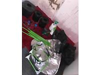 3 hydroponic pots tent clay pebble seed mat
