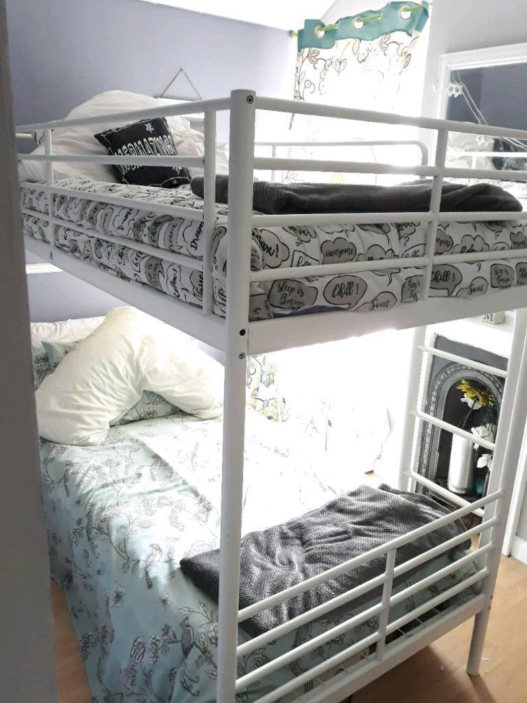 Ikea White Metal Bunk Bed In Caerphilly Gumtree