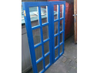 Large window insert with double glazed glass