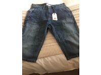 Next Mens denim shorts waist size 30 brand new with tags