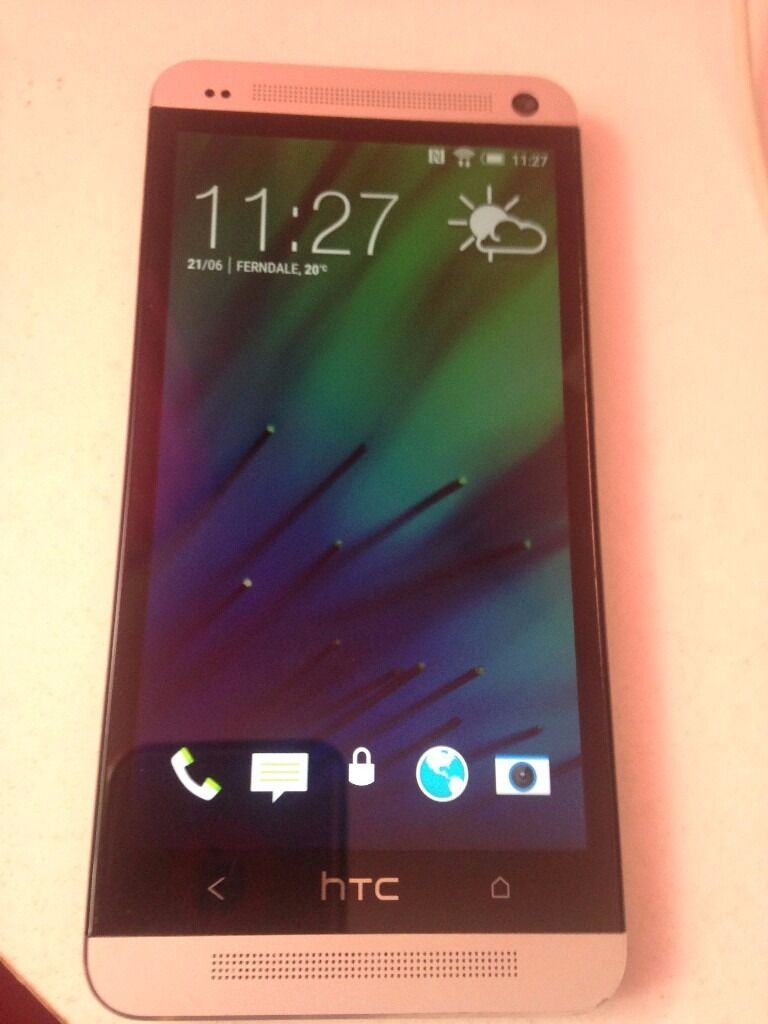 htc one m7 32gb unlockedin Ferndale, Rhondda Cynon TafGumtree - htc one m7 32gb silver unlocked screen in perfect condition in original packaging and charger tiny dent on top of the metal i took pic but it dont show up its very small the camera shows pink tint in low light but works excellent thanks mal