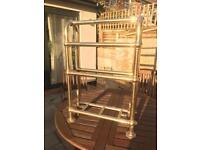 Heritage bathrooms 1924 freestanding towel rail in gold