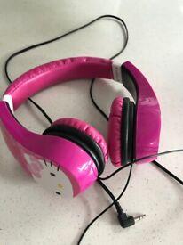 Children's Hello Kitty earphones