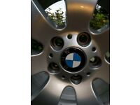 BMW 3 series alloy wheels fitted with winter tyres