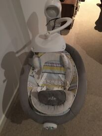 Your newborn will love relaxing in this Joie Serina Swivel Swing.