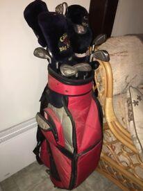 Full set of men's golf clubs