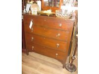 VINTAGE STURDY CHEST OF DRAWERS. IDEAL IN ANY ROOM