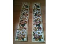FIREPLACE TILES NEW BEAUTIFUL VINTAGE RETRO DESIGNS £30 each set of 5