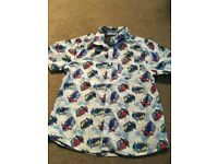 Boys summer shirt with camper van design. age 9-10