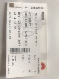 My Great Orchestral Adventure- Loggia Box Ticket 25/10/17