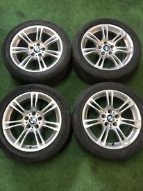 """BMW 5 series F10, 6 series F12 18"""" alloy wheels staggered"""
