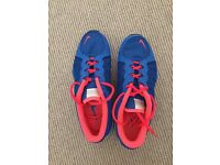 Nike Ladies Trainers UK size 5.5 in Blue and Flourescent Pink £10